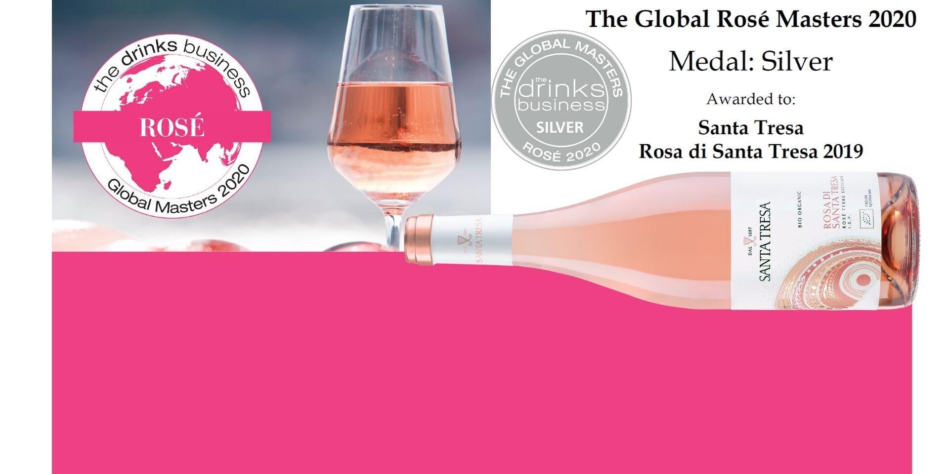 Medaglia d'Argento al concorso Rosé Masters per il nostro Rosa di Santa Tresa