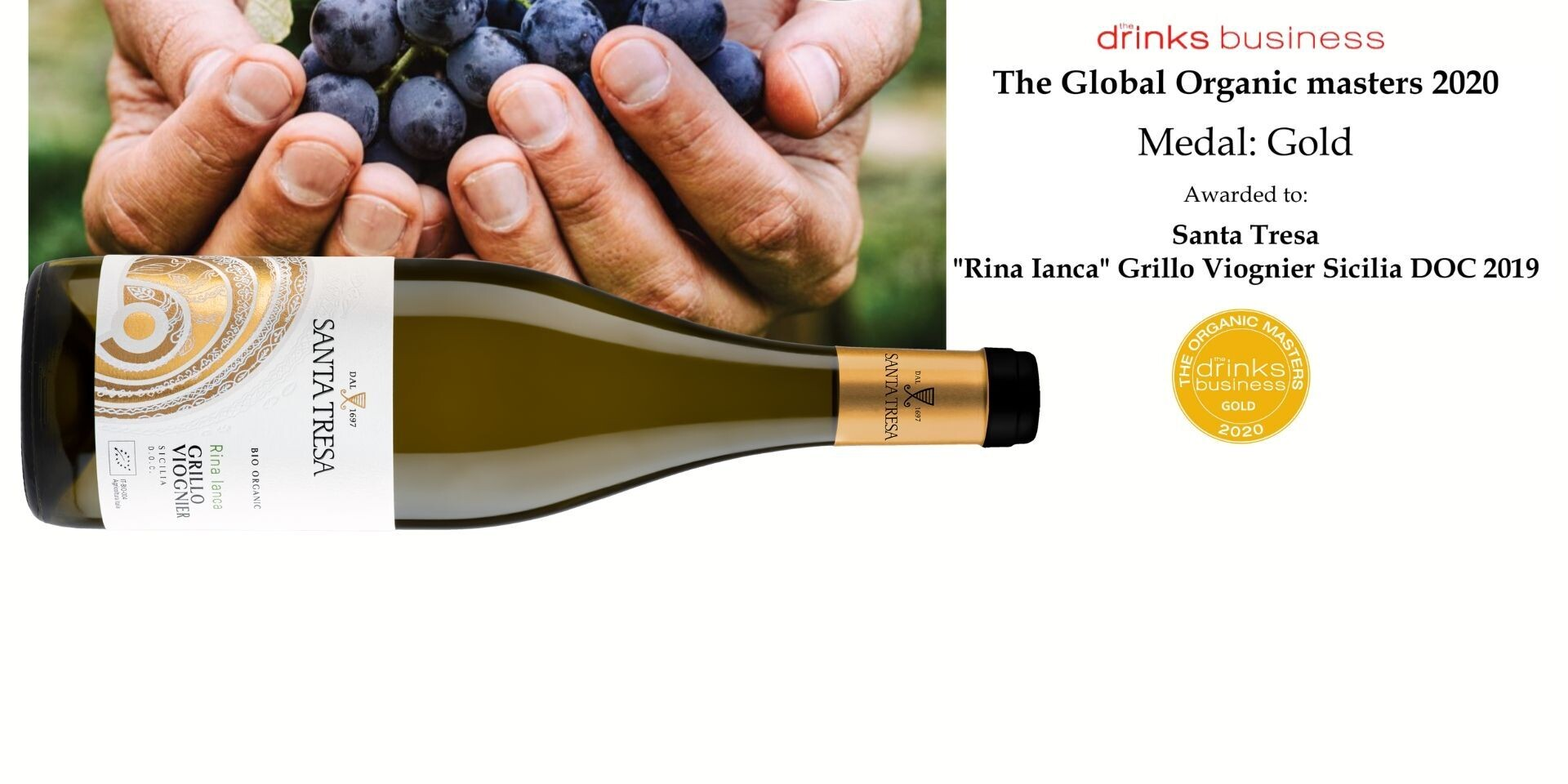 Gold Medal - The Organic Wine Masters 2020
