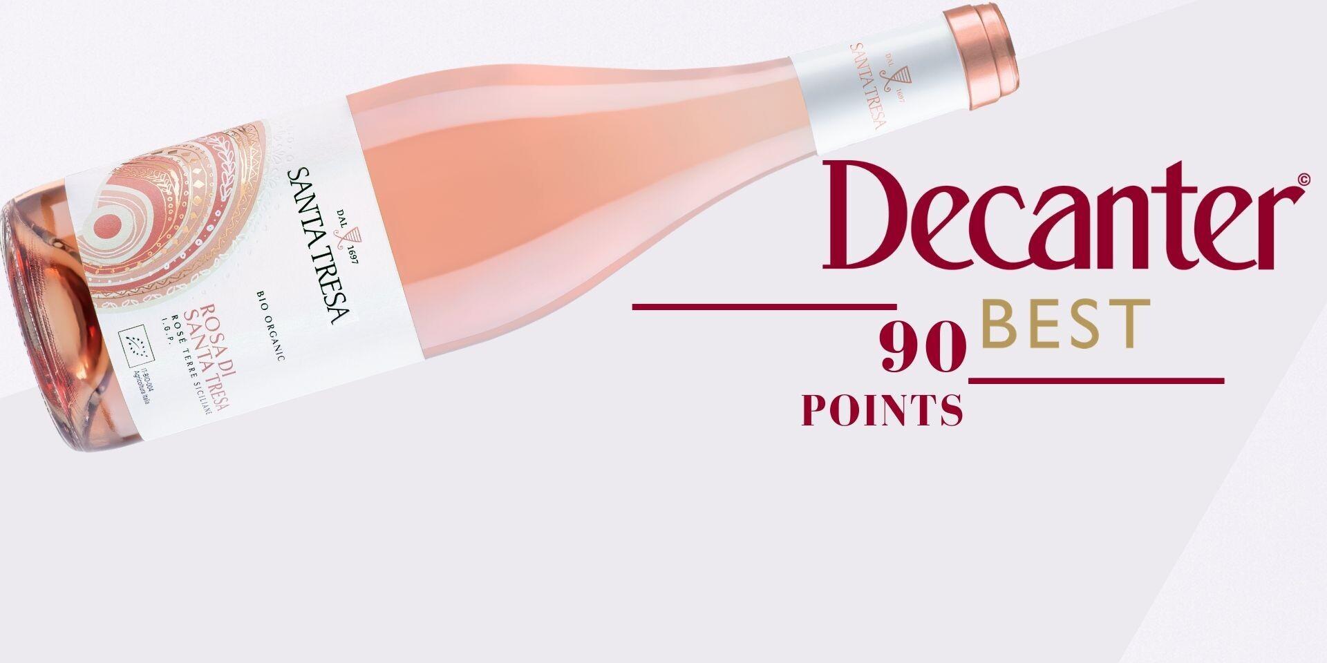 Decanter 90 Points- Rosa di Santa Tresa Rosé