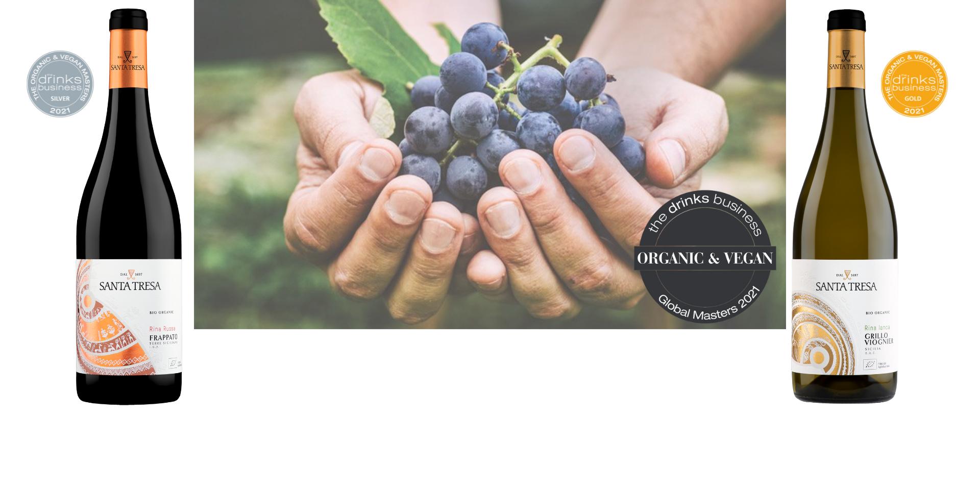The Global Organic & Vegan Wine Masters 2021 - Oro e argento per il Rina Ianca e il Rina Russa
